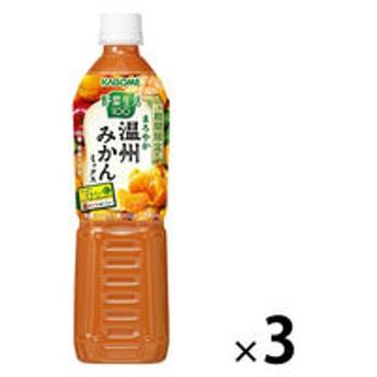 カゴメ 野菜生活100 まろやか温州みかんミックス 720ml 1セット(3本)