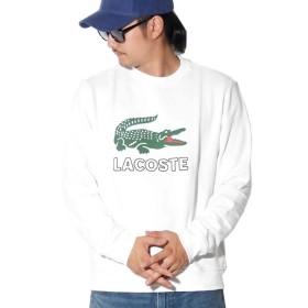 LACOSTE(ラコステ) トレーナー ロゴプリント USAモデル SH6382 ホワイト XL [並行輸入品]