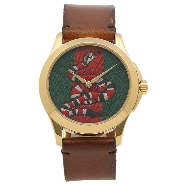 「P10%還元 11/11 24時まで」 【返品OK】 グッチ 腕時計 レディース メンズ GUCCI YA1264012 ブラウン マルチ