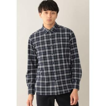 MACKINTOSH PHILOSOPHY ニットネルチェック セミワイドカラーシャツ シャツ・ブラウス,ネイビー1