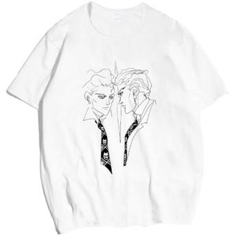 ジョジョの奇妙な冒険 : 半袖Tシャツ 吉良吉影 デッサン風オリジナルデザインTシャツ (M)