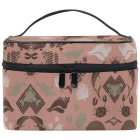 レッドイルカフィッシュシェル化粧品袋オーガナイザージッパー化粧バッグポーチトイレタリーケースガールレディース