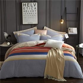 ダブルベッドカバー4ピース反応印刷ベッドカバーツイルサンディング掛け布団目に見えないジッパー枕カバー厚手のシーツ綿ベッド-B