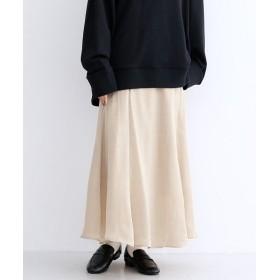 【10%OFF】 メルロー マーメイドサテンスカート レディース ベージュ FREE 【merlot】 【セール開催中】