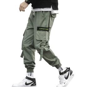 ジョガーカーゴパンツ メンズ ワイド ロングパンツ カジュアル アンクルパンツ 綿 大きいサイズ