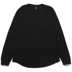 アダム エ ロペ ル マガザン/【HANES】クルーネックサーマルロングスリーブTシャツ/ブラック/F