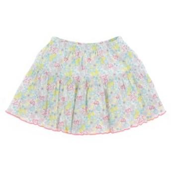 PETIT BATEAU / プチバトー キッズ スカート 色:白x黄xピンク等(花柄) サイズ:110