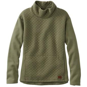 キルト・スウェットシャツ・プルオーバー、ファネルネック/Quilted Sweatshirt Pullover, Funnelneck