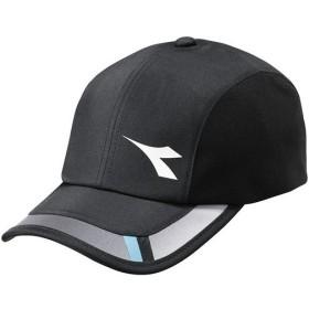 ディアドラ(diadora) メンズ テニスウェア コンペティションキャップ ブラック DTA9780 99 テニス ウェア キャップ 帽子 日よけ アクセサリー