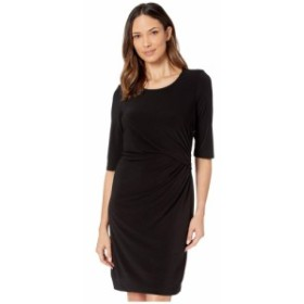 ニックゾー NIC+ZOE レディース ワンピース ワンピース・ドレス fundamental drape dress Black Onyx