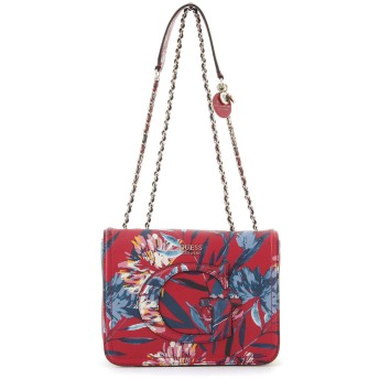 ゲス GUESS CHRISSY CONVERTIBLE CROSSBODY FLAP (FLORAL)