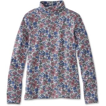 ピマ・コットン・シャツ、タートルネック 長袖 プリント/Pima Cotton Shirt, Turtleneck Long-Sleeve Print