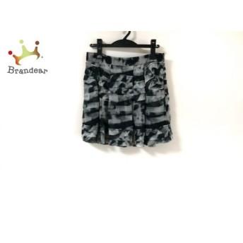セオリー theory ミニスカート サイズ2 S レディース 美品 白×黒×ダークグリーン シルク 新着 20190911