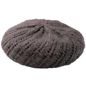 30%OFF【レディース大きいサイズ】 ニットベレー帽 ■カラー:チャコールグレー