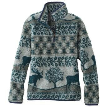 シグネチャー・シェルパ・フリース・プルオーバー、クォータージップ ジャガード/Signature Sherpa Fleece Pullover, Quarter-Zip Jacquard