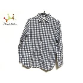 アニエスベー agnes b 長袖シャツ サイズ42 M メンズ 美品 白×黒×ライトブルー チェック柄 新着 20190911
