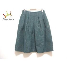 インコテックス INCOTEX スカート サイズ36 S レディース グリーン×黒×白 新着 20190911