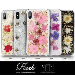Switcheasy Flash 真花系列 for iPhone Xs 5.8-粉花/紫花/貝殼/紅花/雛菊