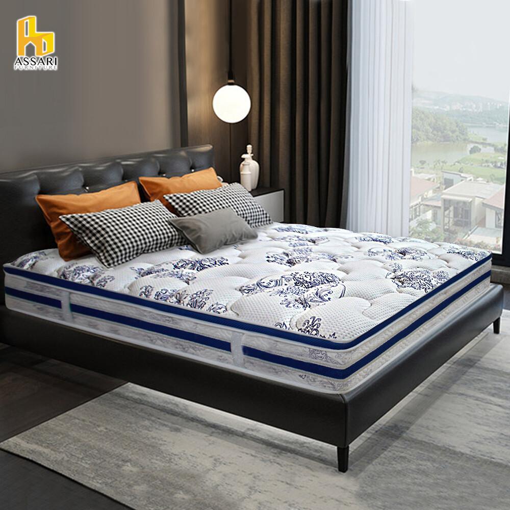 assari-首品英格麗三段式乳膠強化側邊獨立筒床墊-雙大6尺