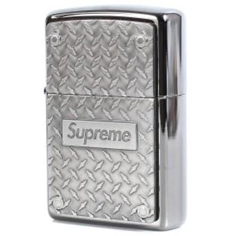 Supreme (シュプリーム) ジッポ 19SS Zippo BOXロゴ ダイヤモンド プレート ジッポライター (Diamond Plate Zippo) シルバー 【K2392】