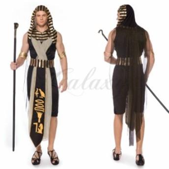 ファラオ エジプト カップルペア お揃い 男性用 メンズ 民族衣装 M-XL ハロウィン 演出用  仮装 コスプレ衣装(ps3818)