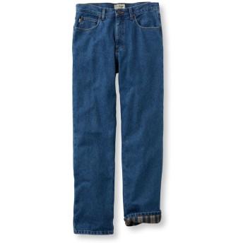 ダブル・エル・ジーンズ、クラシック・フィット フランネルの裏地付き/Men's Double L Jeans, Classic Fit Flannel Lined