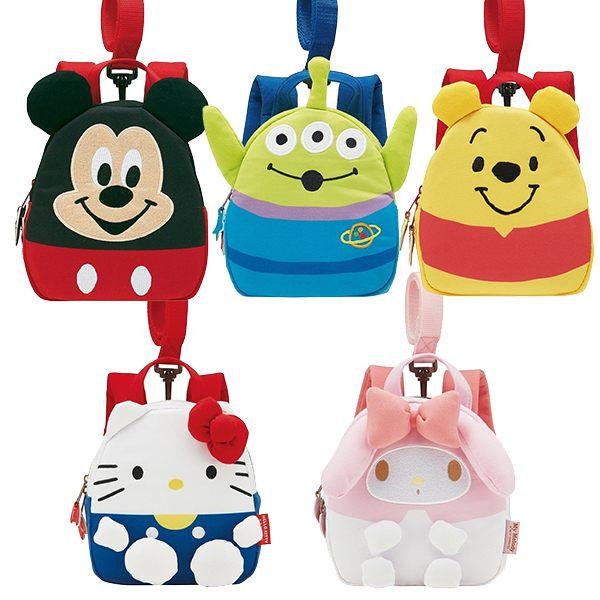兒童背包 附牽線 迪士尼 三麗鷗 米奇 維尼 凱蒂貓 日本正版 該該貝比日本精品