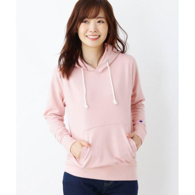 ピンクアドベ <Champion>裏毛パーカー レディース ベビーピンク(071) 40(L) 【pink adobe】