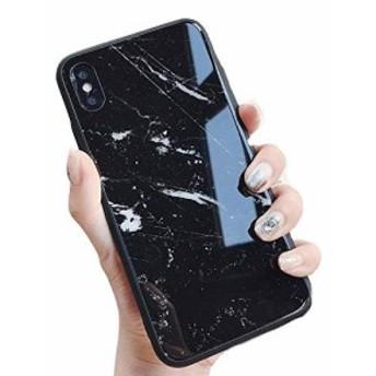 iphone 6 6S 7 8 7plus 8plus iphoneX Xs XR iPhoneXS Max スマホ ケース ブラック 大理石 マーブ