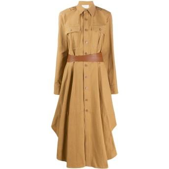 Stella McCartney フレア ベルテッド シャツドレス - ニュートラル