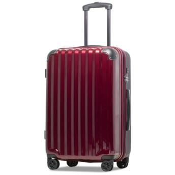 (tavivako/タビバコ)【JP-Design】スーツケース LMサイズ 静音8輪キャスター 軽量 大容量 拡張 TSAロック 受託手荷物無料 キャリーバッグ キャリーケース/ユニセックス ワイン 送料無料