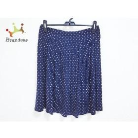アニエスベー agnes b 巻きスカート サイズ1 S レディース 美品 ネイビー×白 ドット柄  値下げ 20191207