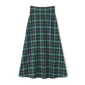 【公式/フリーズマート】マルチチェックフレアスカート/女性/スカート/カーキ×GRチェック/サイズ:FR/(表生地)ポリエステル 98% ポリウレタン 2%(裏生地)ポリエステル 100%