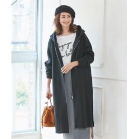 裏起毛ロングパーカーコート (大きいサイズレディース)コート,plus size