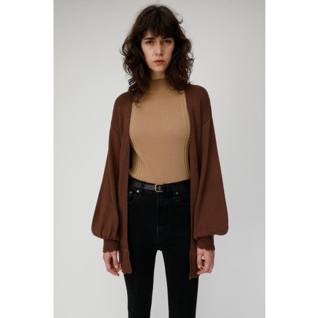 MOUSSY マウジー FALL COLOR TRIM END カーディガン