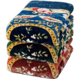 ファミリー・ライフ 遠赤わた入り三層ボリュームマイヤー毛布 ダブル 2色組 ブルー+ピンク (03214)