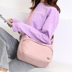 Acorn*橡果-日系新款牛津布防水休閒多功能斜背包郵差包6588(粉色)