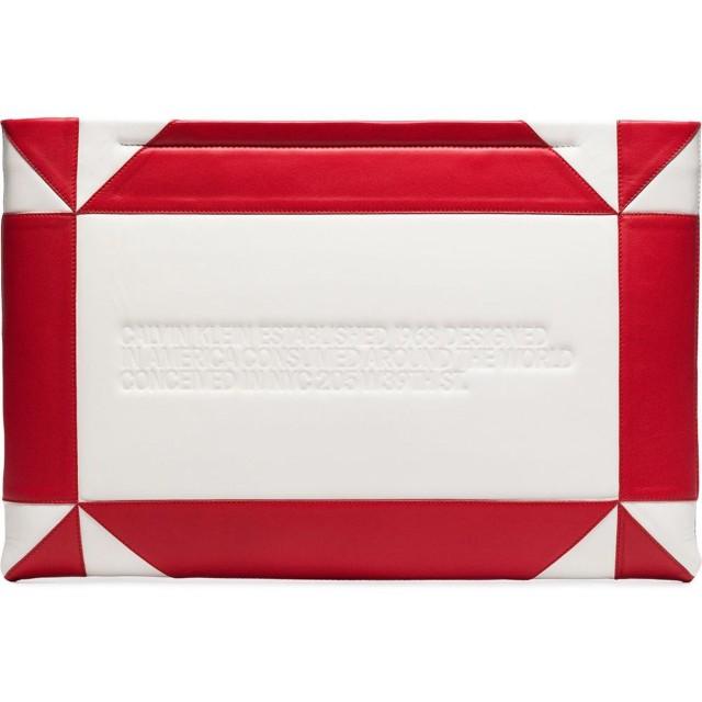Calvin Klein 205W39nyc バイカラー クラッチバッグ - ホワイト