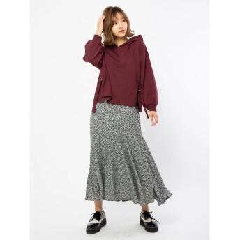 セシルマクビー CECIL McBEE 小花柄マーメイドスカート (ネイビー)