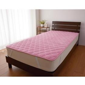布団カバー シーツ 敷きパッド パッドシーツ 吸湿・発熱コットン 敷きパッド 「ピンク」