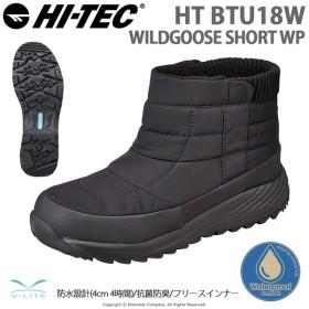 ハイテック HI-TEC [2019年秋冬新作] メンズ/レディース ウィンターブーツ HT BTU18W WILDGOOSE SHORT WP ブラック