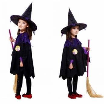 ハロウィン マント 衣装 子供用 巫女 魔女 マント 帽子 男の子 女の子 ドラキュラ キャラクター Halloween 変装 仮装 コスプレ コスチュ
