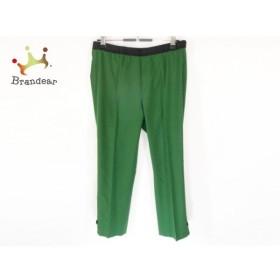 トゥービーシック パンツ サイズ40 M レディース 美品 グリーン×黒 リボン/ウエストゴム 新着 20190911