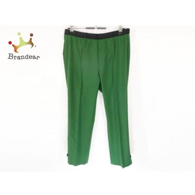 トゥービーシック パンツ サイズ40 M レディース 美品 グリーン×黒 リボン/ウエストゴム   スペシャル特価 20191209