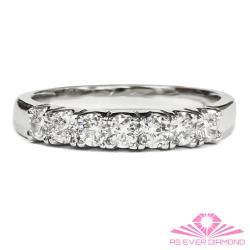 【AS EVER DIAMOND】女王的璀璨 0.50克拉鑽石線戒 尊榮典藏