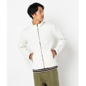 フレディアンドグロスター フリースジャケットF刺繍 メンズ オフホワイト M 【FREDY & GLOSTER】