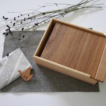 *Creema限定/数量限定1点 * 秋の袋 *木製 道具箱とブローチのセット01/おまけつき