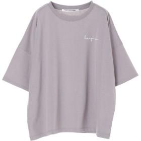 グリーンパークス Green Parks Ray Cassin バック転写ptTシャツ (Lavender)