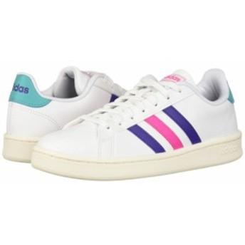 アディダス adidas レディース スニーカー シューズ・靴 grand court White/Energy Ink/Shock Pink