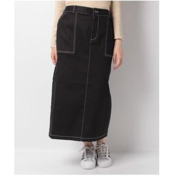 PUNYUS ステッチロングスカート(ブラック)【返品不可商品】